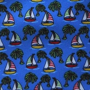 🌻2 For $17 Tropical Sailing Boating Themed Tie